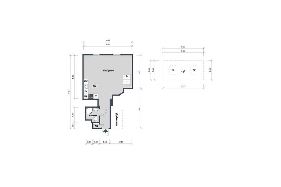 Фотография: Прочее в стиле , Скандинавский, Малогабаритная квартира, Квартира, Цвет в интерьере, Дома и квартиры, Белый, Мансарда – фото на INMYROOM
