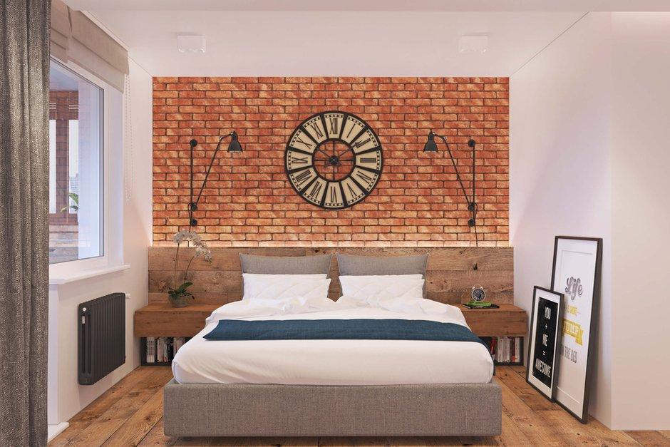 Фотография: Спальня в стиле Лофт, Квартира, Проект недели, Одинцово, Geometrium, Московская область, Монолитный дом, 2 комнаты, 60-90 метров – фото на INMYROOM