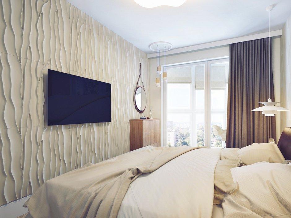 Фотография: Спальня в стиле Современный, Декор интерьера, Квартира, Планировки, Хранение, Текстиль, Освещение, Декор, Мебель и свет, Минимализм, Проект недели, Перепланировка – фото на INMYROOM