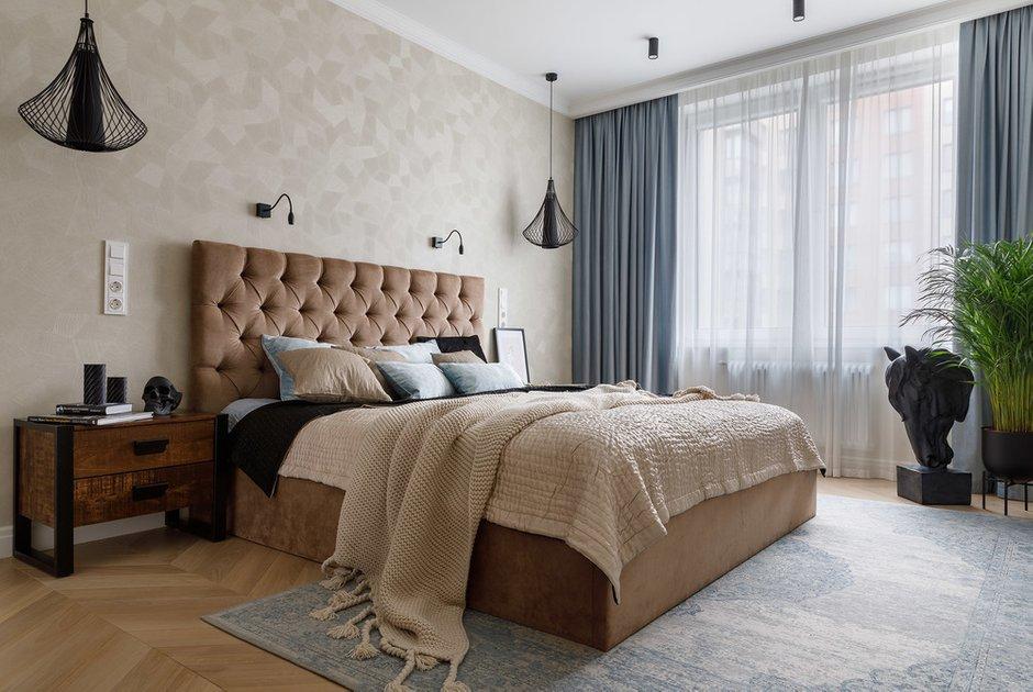 Фотография: Спальня в стиле Современный, Классический, Квартира, Проект недели, Санкт-Петербург, 3 комнаты, Более 90 метров, Кирилл Пономаренко – фото на INMYROOM