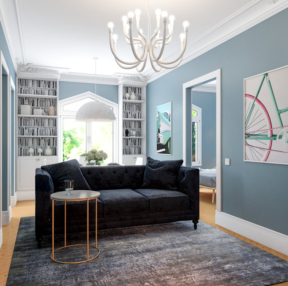 Фотография: Гостиная в стиле Скандинавский, Малогабаритная квартира, Квартира, Проект недели, Марина Саркисян, Хельсинки, 2 комнаты, до 40 метров – фото на INMYROOM