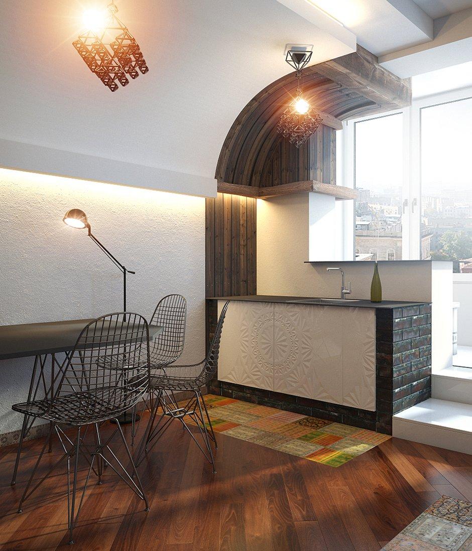 Фотография: Кухня и столовая в стиле Эклектика, Квартира, Дома и квартиры, Проект недели – фото на INMYROOM
