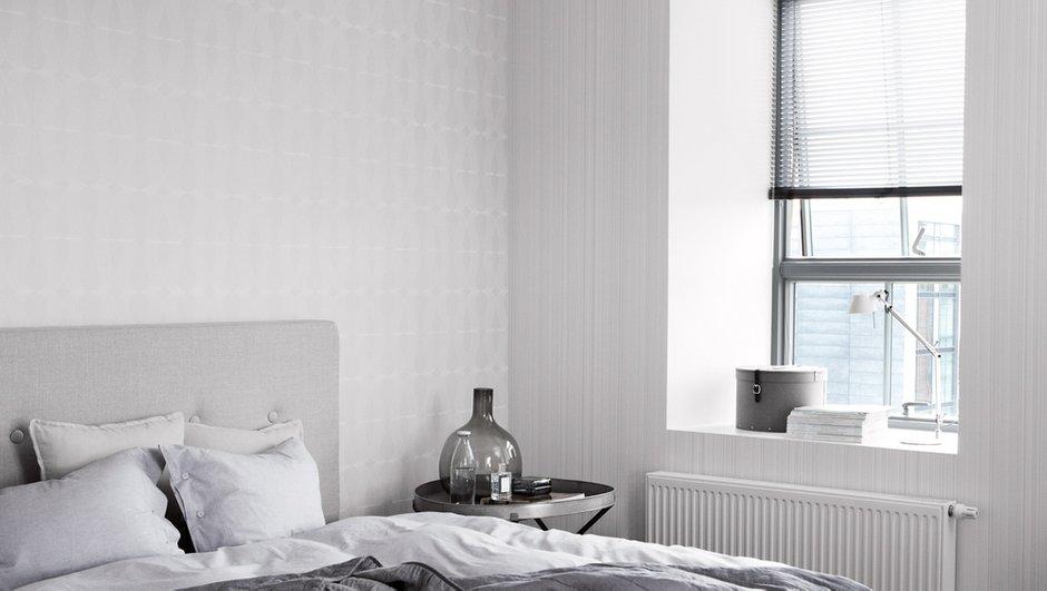 Фотография: Спальня в стиле Классический, Скандинавский, Современный, Декор интерьера, Дизайн интерьера, Цвет в интерьере, Обои, Стены, Эко – фото на INMYROOM