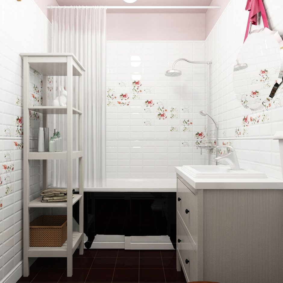 Фотография: Ванная в стиле Лофт, Эклектика, Квартира, Дома и квартиры, IKEA, Проект недели – фото на INMYROOM