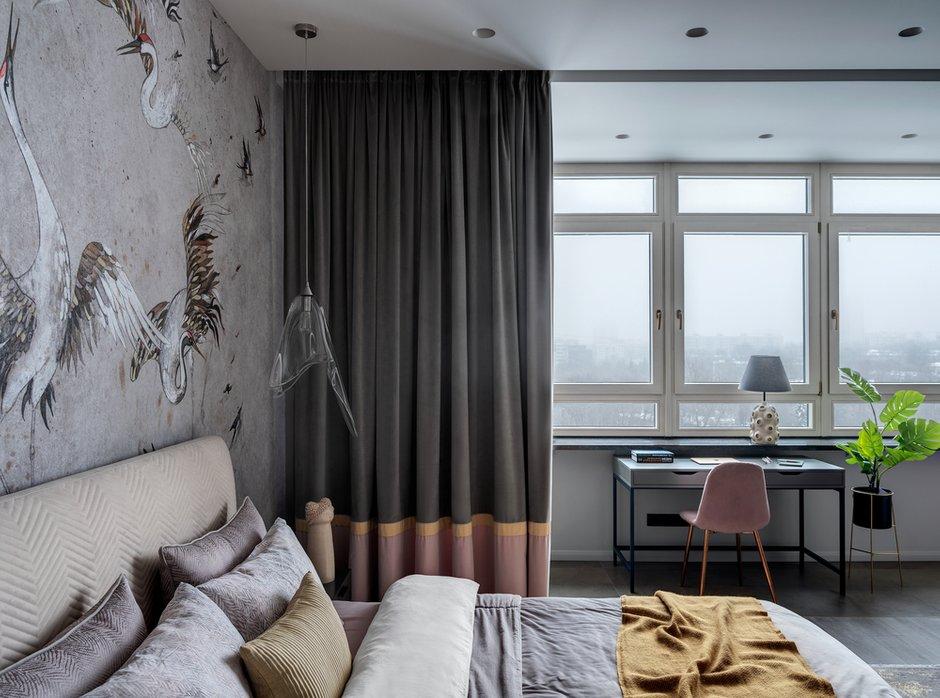 Фотография: Спальня в стиле Современный, Квартира, Проект недели, Москва, 2 комнаты, 40-60 метров, Анна Морозова – фото на INMYROOM