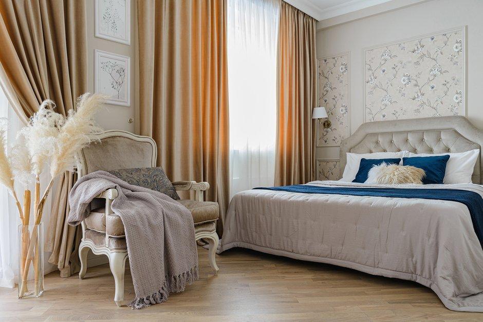 Фотография: Спальня в стиле Классический, Квартира, Проект недели, Монолитный дом, 3 комнаты, 60-90 метров, Кемерово, Екатерина Усикова – фото на INMYROOM