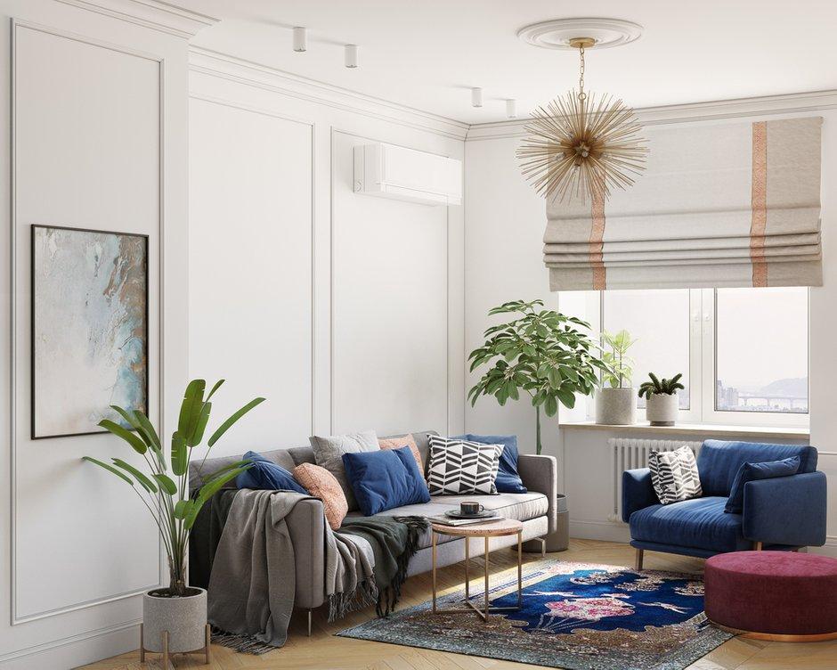 Фотография: Гостиная в стиле Современный, Квартира, Проект недели, Москва, OM Design, 2 комнаты, 40-60 метров – фото на INMYROOM