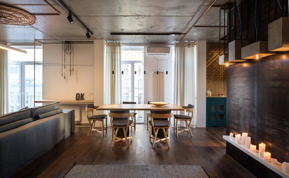 Фотография: Кухня и столовая в стиле Лофт, Квартира, Проект недели, Киев, новостройка, Монолитный дом, 2 комнаты, 60-90 метров – фото на INMYROOM