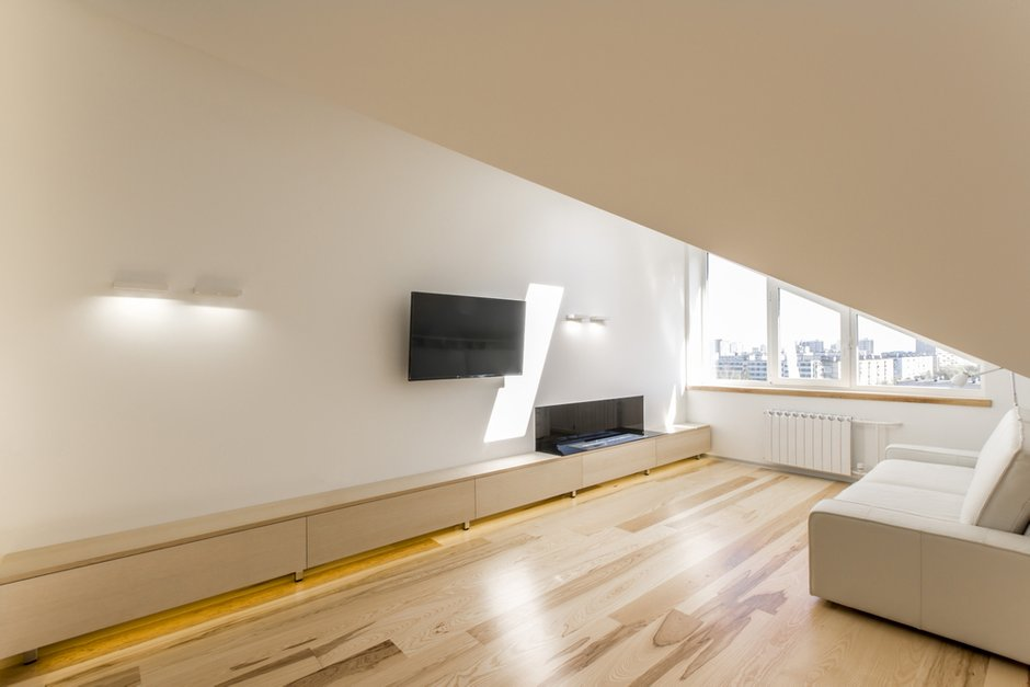 Фотография: Гостиная в стиле Лофт, Квартира, BoConcept, Дома и квартиры, Белый, IKEA, Проект недели, Мансарда – фото на InMyRoom.ru