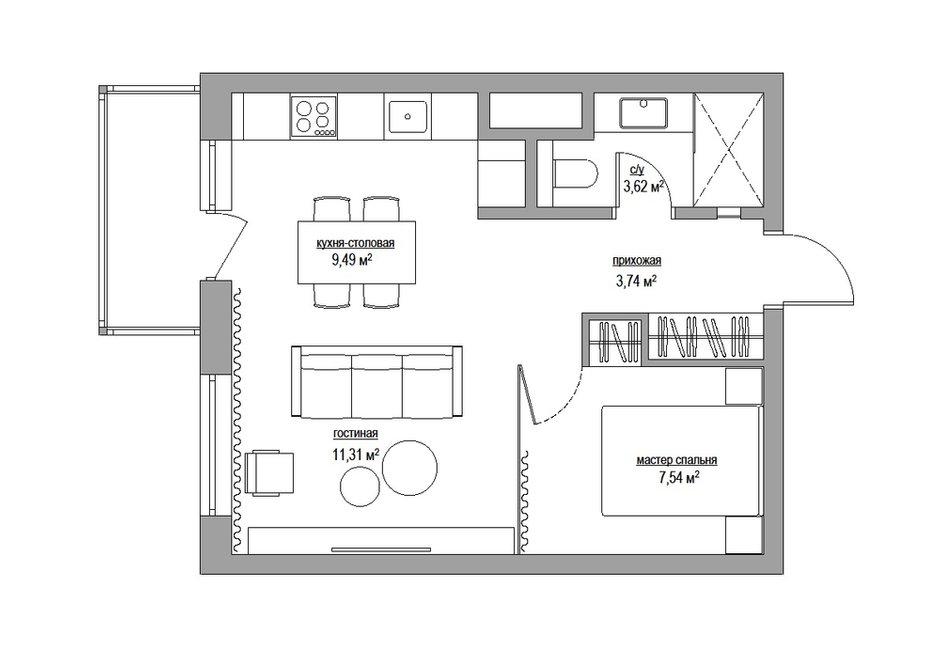 Фотография: Прочее в стиле , Малогабаритная квартира, Квартира, Дома и квартиры, Минимализм, Переделка – фото на INMYROOM