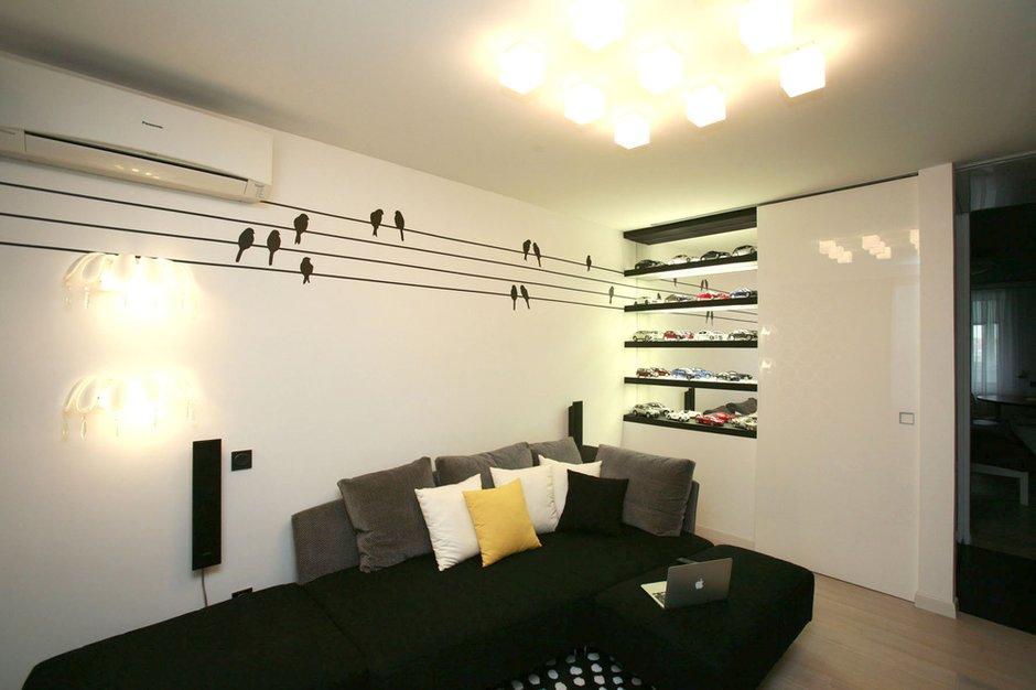 Фотография: Гостиная в стиле , Квартира, Дома и квартиры, Перепланировка, Ремонт – фото на INMYROOM