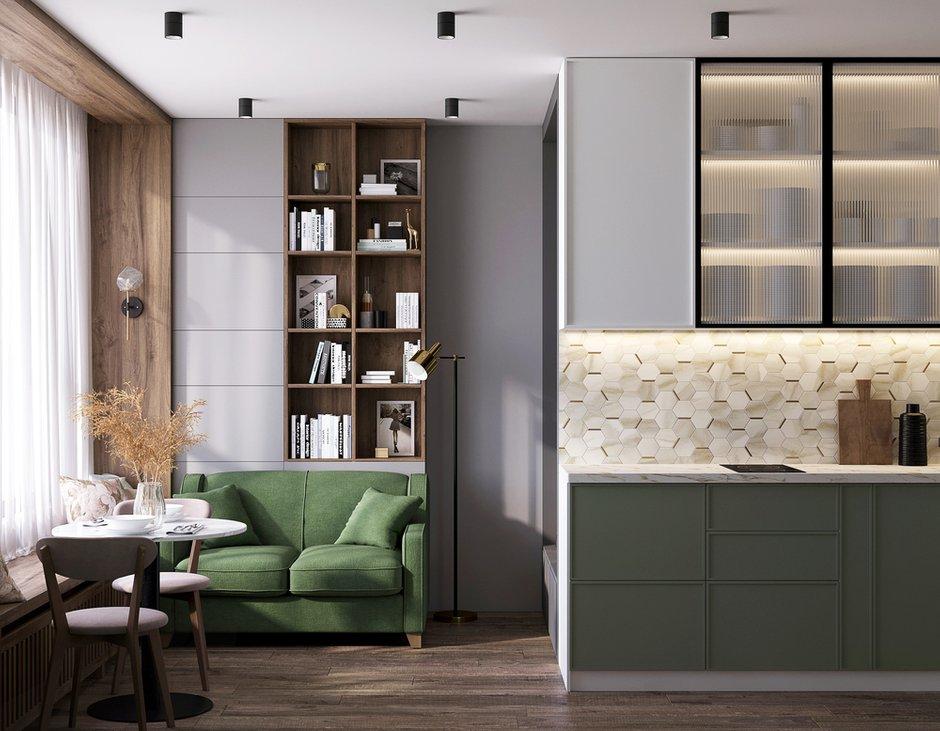 Плитку на кухонном фартуке и керамогранит для прихожей и ванной комнаты взяли из новых коллекций российского производителя Italon.