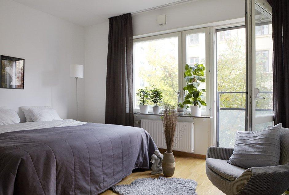 Фотография: Спальня в стиле Скандинавский, Современный, Детская, Квартира, Швеция, Цвет в интерьере, Дома и квартиры, Белый – фото на INMYROOM