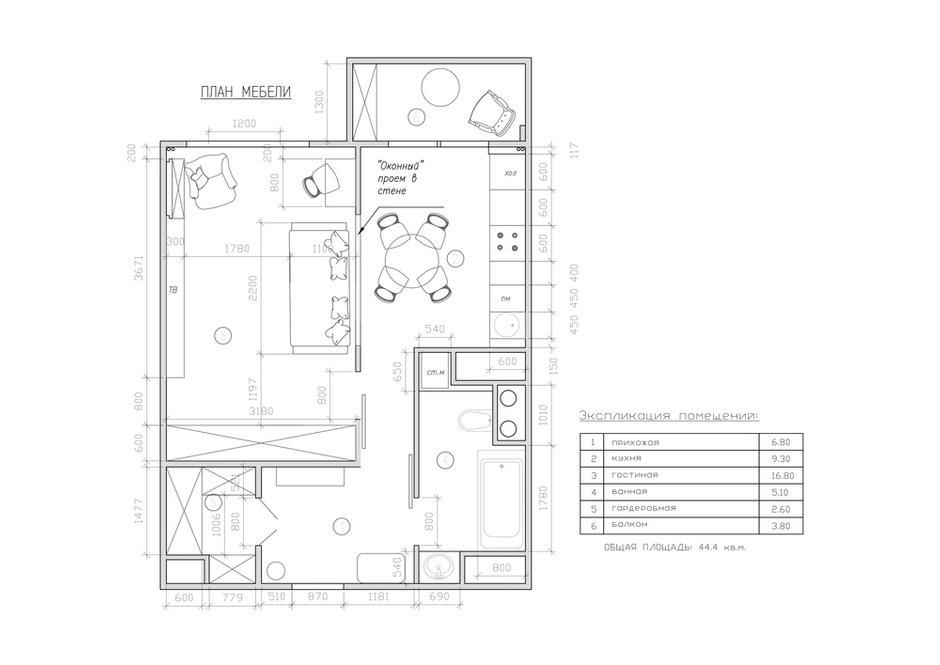Фотография: Планировки в стиле , Современный, Квартира, Проект недели, Москва, Виктория Золина, Zi-Design Interiors, Кирпичный дом, 1 комната, 40-60 метров – фото на INMYROOM