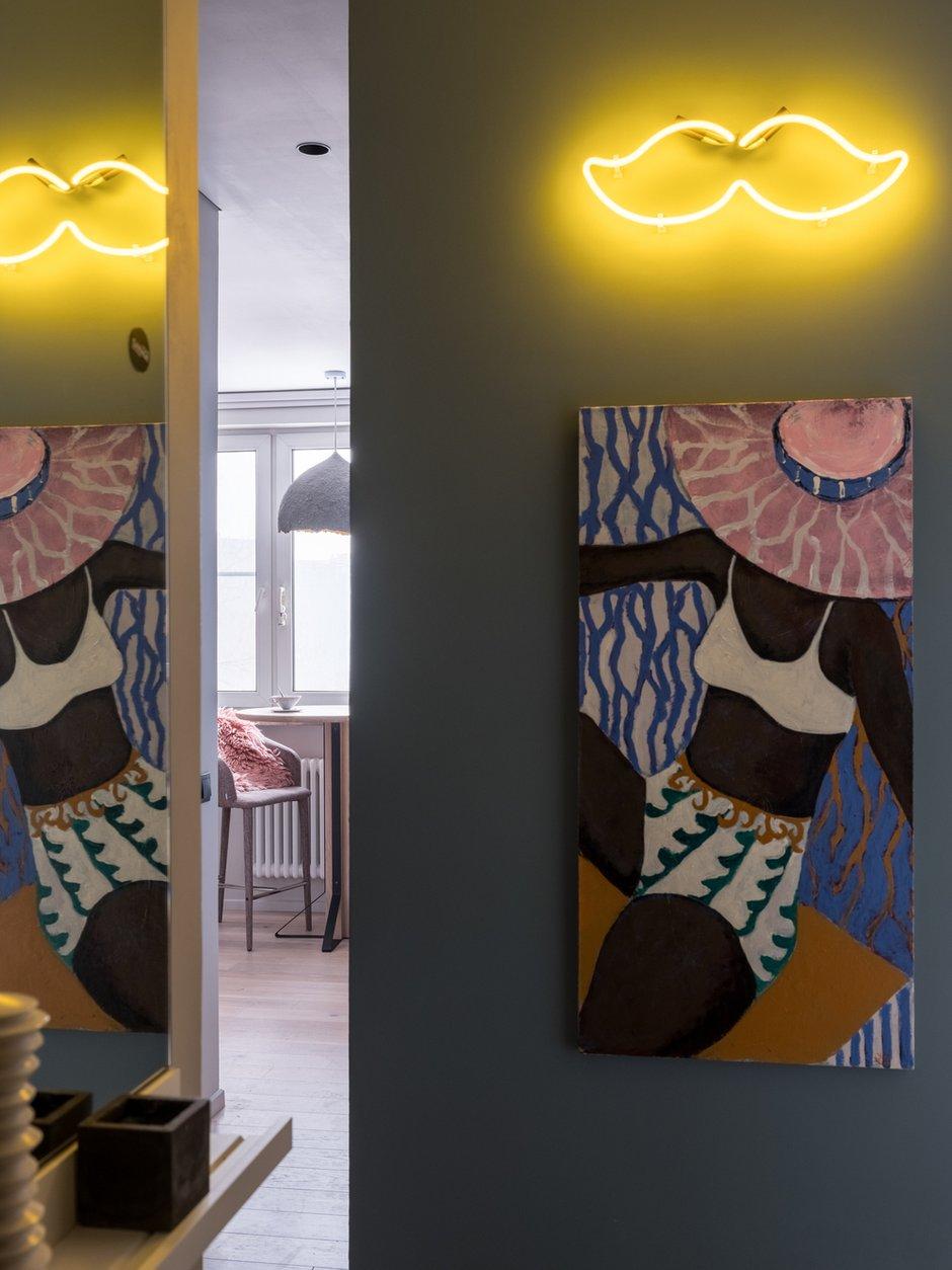 Фотография: Прихожая в стиле Современный, Квартира, Проект недели, Москва, Панельный дом, 1 комната, 40-60 метров, Анастасия Брандт – фото на INMYROOM
