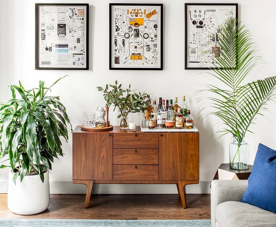 Фотография: Гостиная в стиле Скандинавский, Декор интерьера, Малогабаритная квартира, Квартира, Нью-Йорк, Гид – фото на INMYROOM