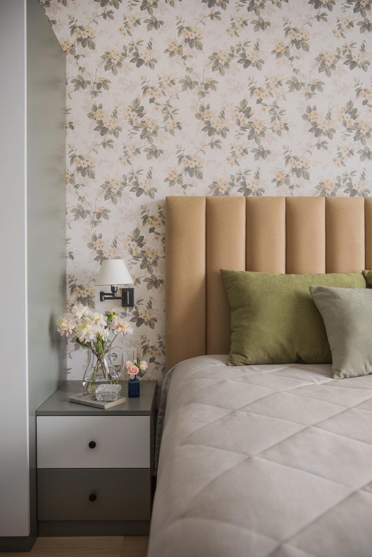 Фотография: Спальня в стиле Современный, Прованс и Кантри, Квартира, Проект недели, Москва, 2 комнаты, 60-90 метров, Наталия Суслина – фото на INMYROOM
