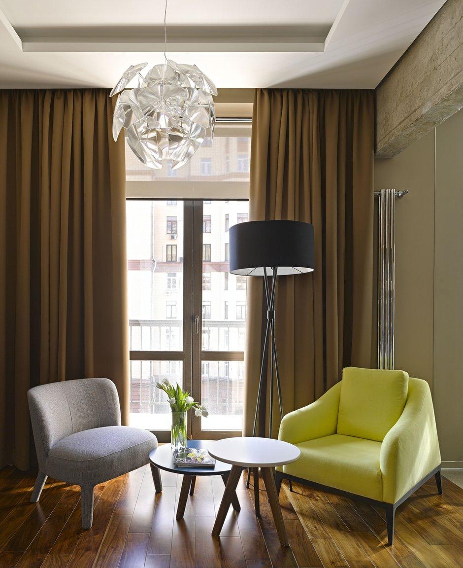 Фотография: Гостиная в стиле Современный, Эко, Малогабаритная квартира, Квартира – фото на INMYROOM