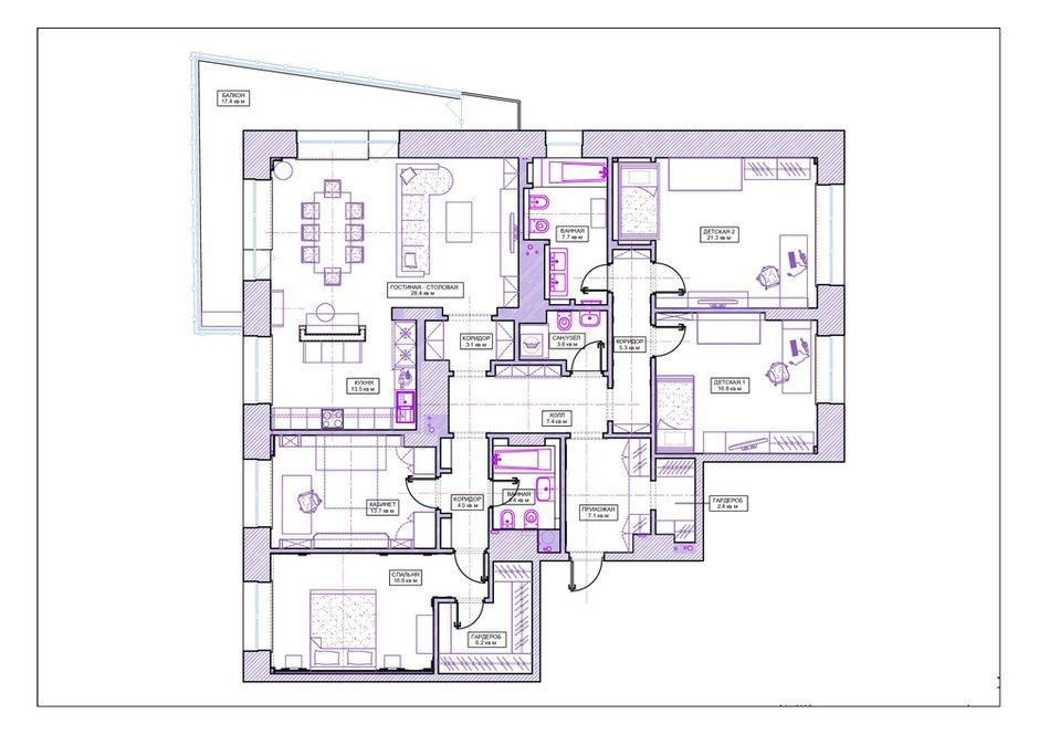 Фотография: Планировки в стиле , Современный, Квартира, Проект недели, Москва, Анна Жемерева, новостройка, Монолитный дом, 4 и больше, Более 90 метров – фото на INMYROOM