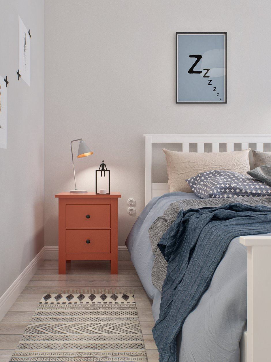 Фотография: Спальня в стиле Скандинавский, Квартира, Дома и квартиры, Проект недели – фото на INMYROOM