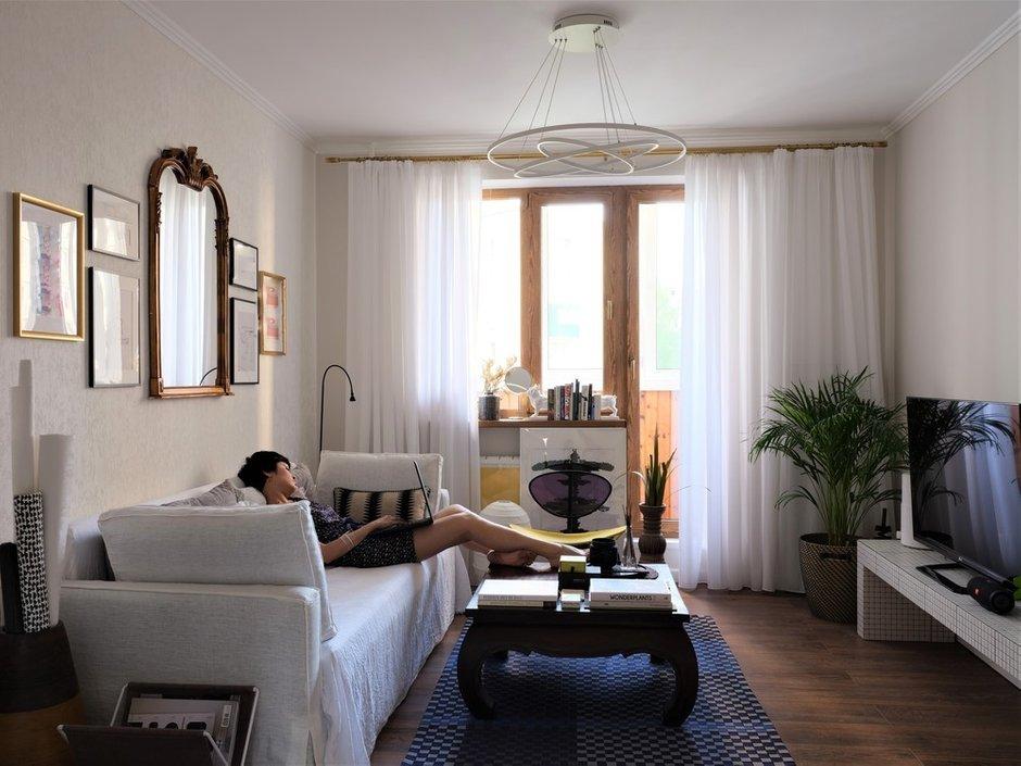 Фотография:  в стиле , Эклектика, Квартира, Проект недели, Москва, Виктория Золина, Zi-Design Interiors, П-44, Панельный дом, 1 комната, до 40 метров, ПРЕМИЯ INMYROOM – фото на INMYROOM