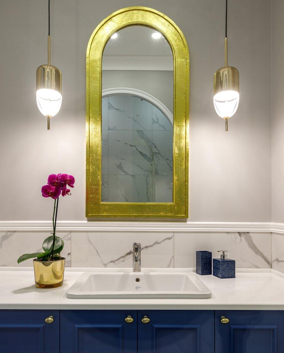 Фотография: Ванная в стиле Современный, Эклектика, Квартира, Проект недели, 3 комнаты, Более 90 метров, AK Studio, Нур-султан – фото на INMYROOM