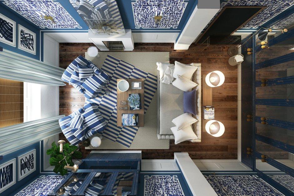 Фотография:  в стиле , Гостиная, Квартира, Проект недели, П44т, Елена Ожогина – фото на INMYROOM