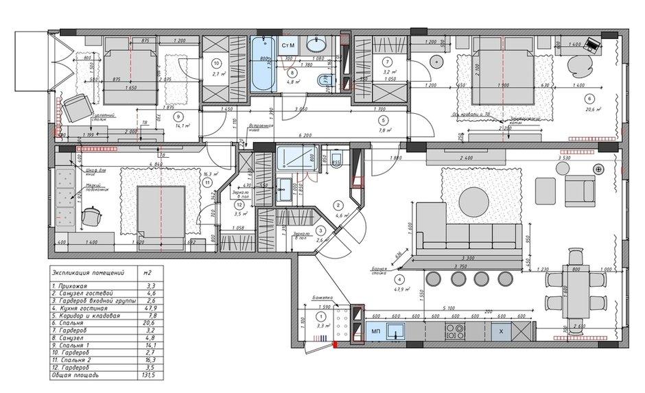 Фотография: Планировки в стиле , Современный, Квартира, Проект недели, Мытищи, 4 и больше, Более 90 метров, Анна Шаповалова – фото на INMYROOM