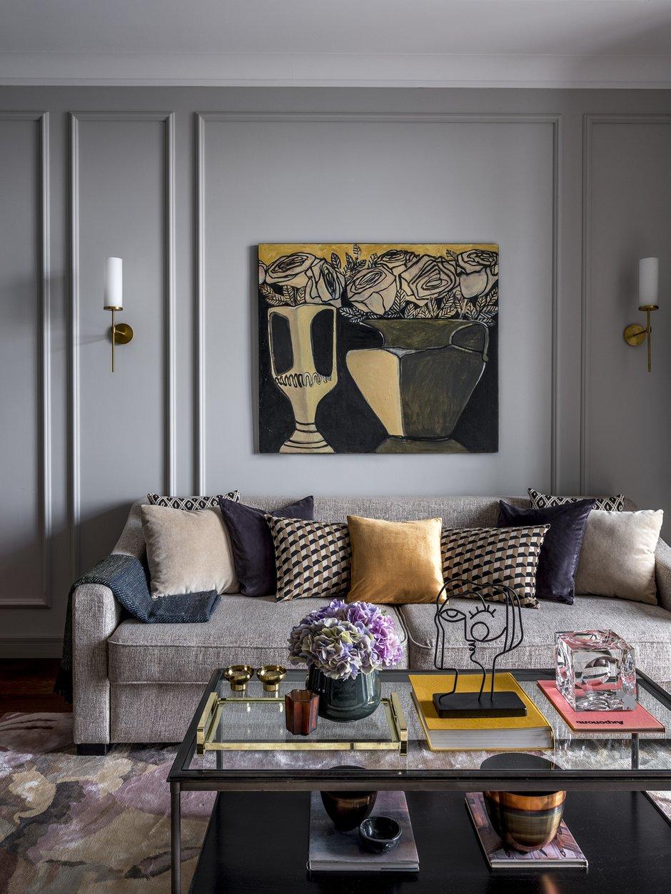 Фотография: Гостиная в стиле Современный, Квартира, Проект недели, Москва, 4 и больше, Более 90 метров, Anddesign – фото на INMYROOM