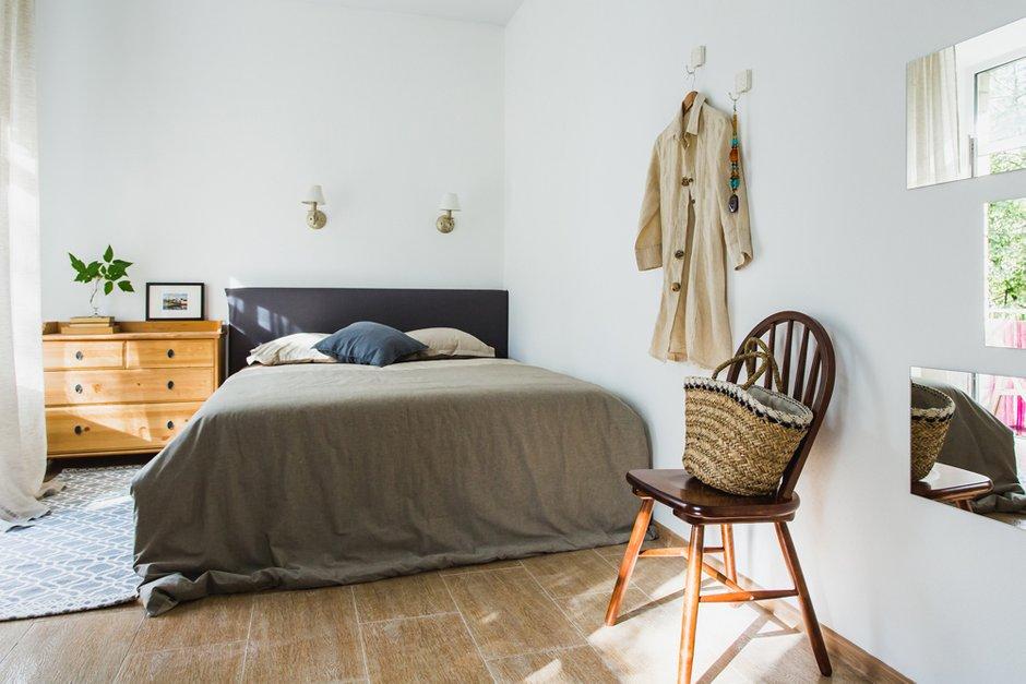Фотография: Спальня в стиле Скандинавский, Квартира, Проект недели, Москва, Анна Ковальченко, квартира под сдачу – фото на INMYROOM