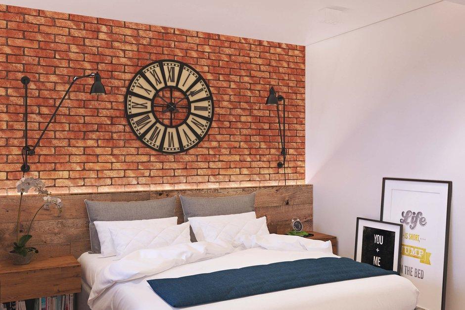Фотография: Спальня в стиле Лофт, Квартира, Проект недели, Одинцово, Geometrium, Московская область, Монолитный дом, 2 комнаты, 60-90 метров – фото на InMyRoom.ru