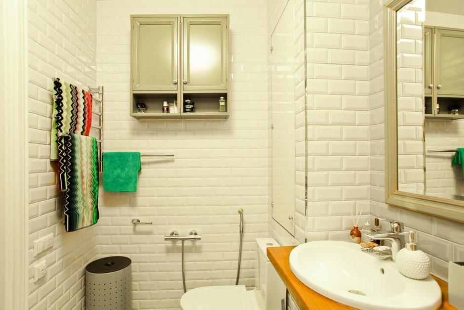 Фотография: Ванная в стиле Прованс и Кантри, Лофт, Скандинавский, Современный, Квартира, Проект недели – фото на INMYROOM