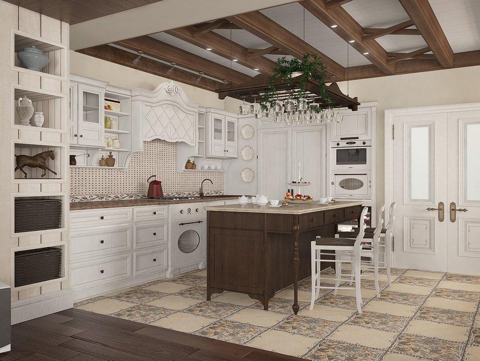 Фотография: Кухня и столовая в стиле Прованс и Кантри, Квартира, Дома и квартиры, Прованс, Проект недели – фото на INMYROOM