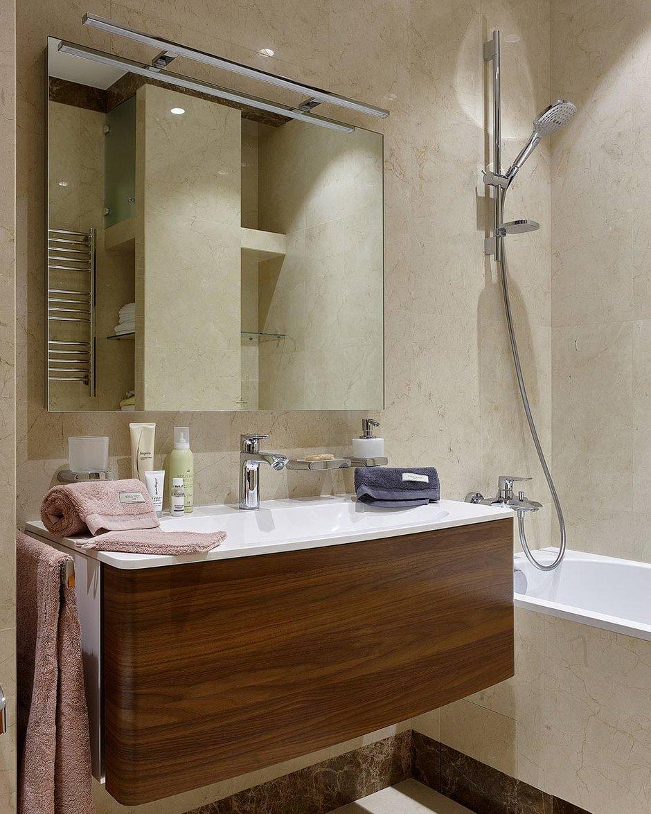 Фотография: Ванная в стиле Современный, Квартира, Проект недели, Москва, Никита Морозов, KM Studio, новостройка, Монолитный дом, 3 комнаты, Более 90 метров – фото на INMYROOM