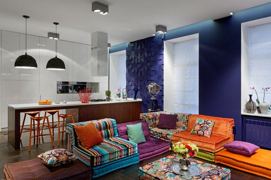 Фотография: Гостиная в стиле Прованс и Кантри, Лофт, Малогабаритная квартира, Квартира, Дома и квартиры, Перепланировка – фото на INMYROOM
