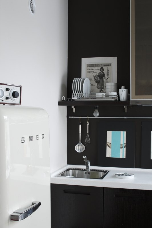 Фотография: Кухня и столовая в стиле , Малогабаритная квартира, Квартира, Студия, Дома и квартиры, Проект недели – фото на INMYROOM