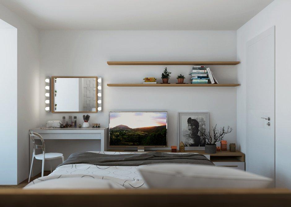 Фотография: Спальня в стиле Скандинавский, Квартира, Белый, Проект недели, Желтый, Юлия Чернова, Смоленск, много ИКЕА, новостройка, Монолитный дом, 2 комнаты, 60-90 метров – фото на INMYROOM