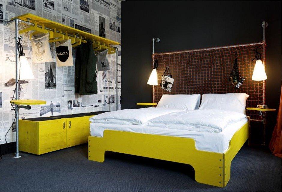 Фотография: Спальня в стиле Эклектика, Дома и квартиры, Городские места, Отель, Проект недели, Хостел – фото на InMyRoom.ru