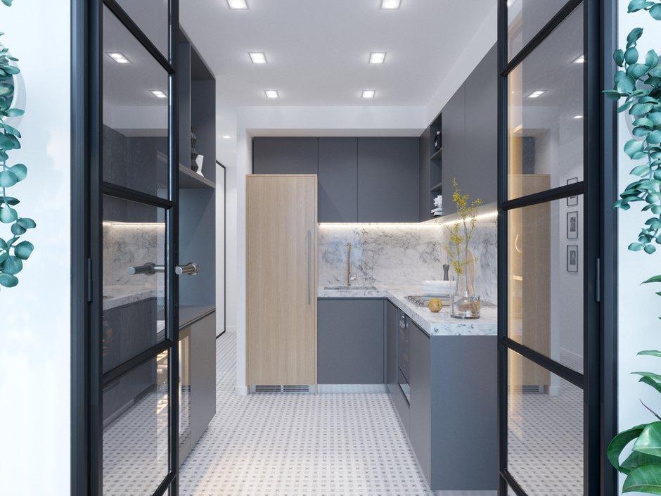 Фотография: Кухня и столовая в стиле Современный, Малогабаритная квартира, квартира холостяка, малогабаритка, 1 комната, до 40 метров, Юлия Тельнова – фото на INMYROOM