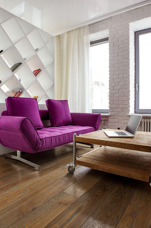 Фотография: Гостиная в стиле Лофт, Квартира, Дома и квартиры, Проект недели, Поп-арт – фото на INMYROOM