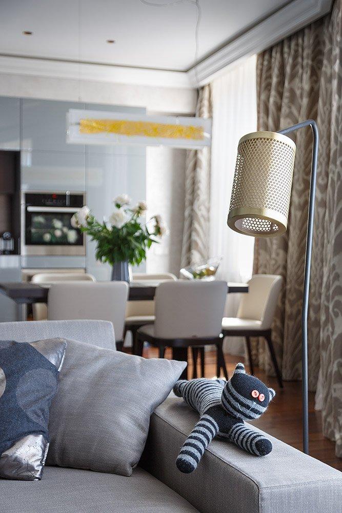 Фотография: Кухня и столовая в стиле Современный, Гостиная, Интерьер комнат, Проект недели – фото на InMyRoom.ru