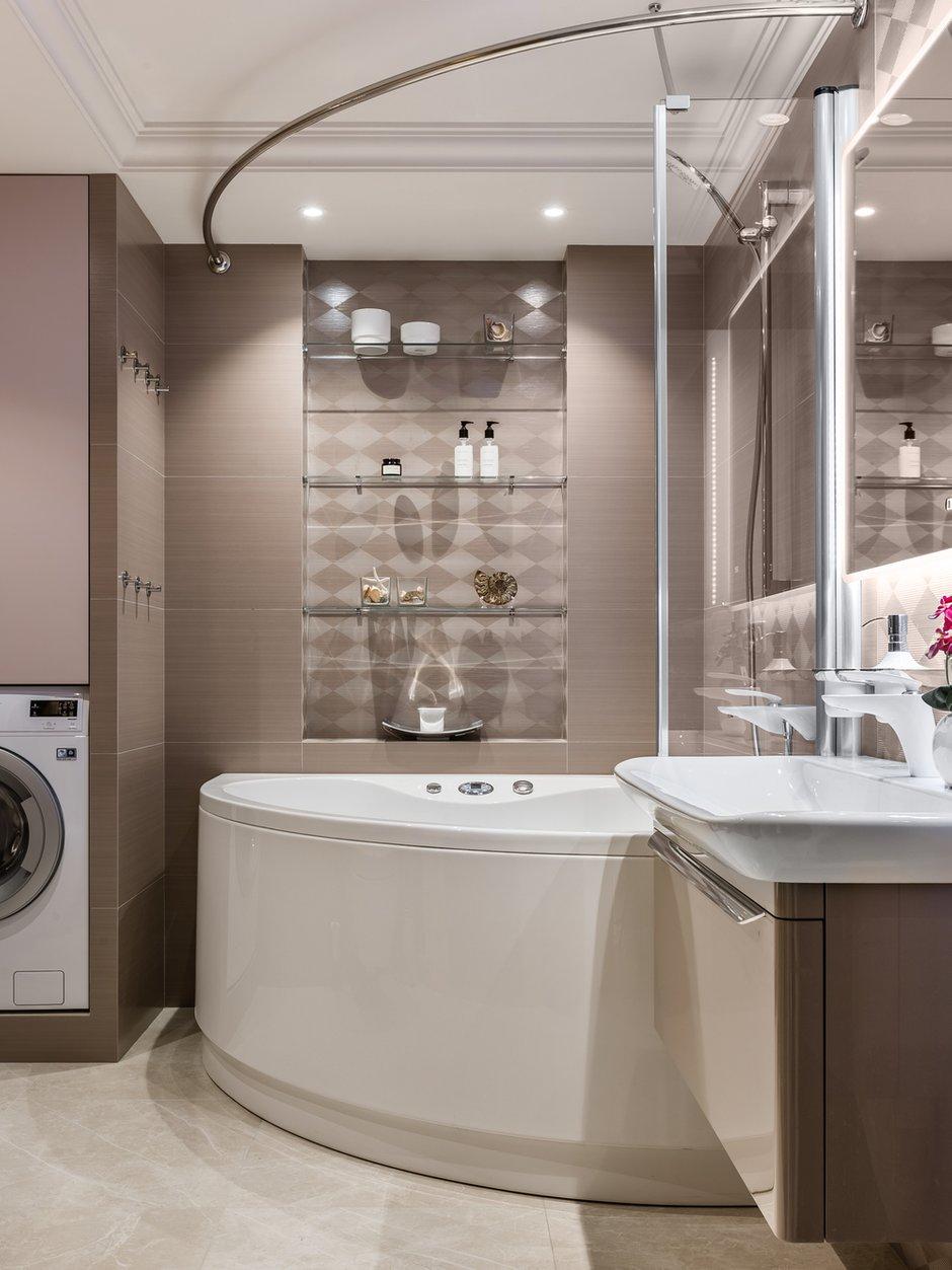 Фотография: Ванная в стиле Современный, Классический, Квартира, Проект недели, Самара, Artek Design Studio, 4 и больше, Более 90 метров, Оксана Агапонова – фото на INMYROOM