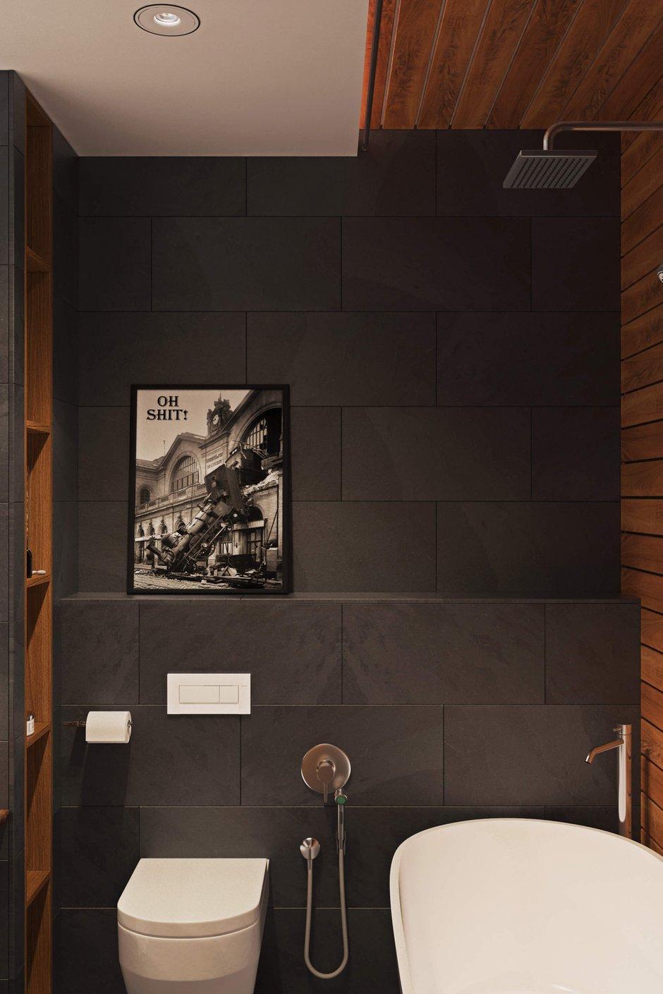 Фотография: Ванная в стиле Лофт, Квартира, Проект недели, Одинцово, Geometrium, Московская область, Монолитный дом, 2 комнаты, 60-90 метров – фото на InMyRoom.ru