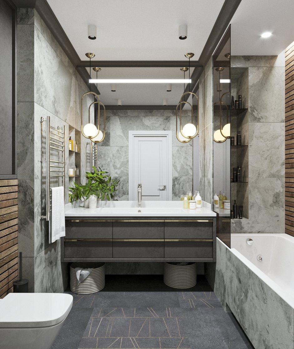 Фотография: Ванная в стиле Современный, Квартира, Проект недели, Новосибирск, студия Mango, Монолитный дом, 3 комнаты, Более 90 метров – фото на INMYROOM