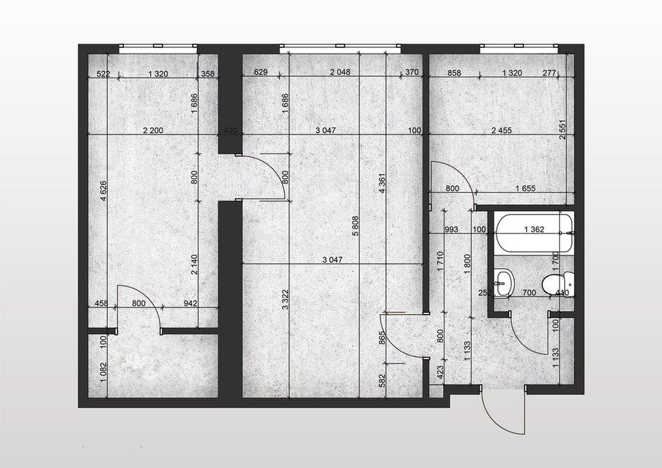 Фотография: Планировки в стиле , Малогабаритная квартира, Квартира, Минимализм, Проект недели, Москва, Евгения Матвеенко, FlatsDesign, 2 комнаты, 40-60 метров – фото на INMYROOM