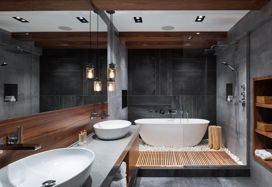 Фотография: Ванная в стиле Современный, Лофт, Квартира, Проект недели, Москва, GM-Interior, 3 комнаты, Более 90 метров – фото на INMYROOM