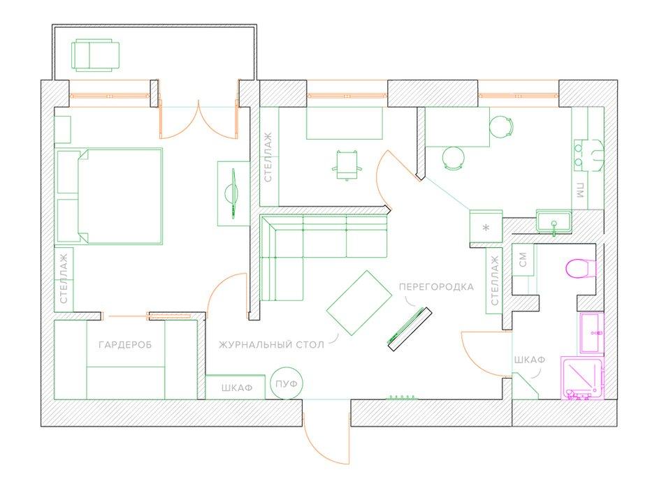 Фотография: Планировки в стиле , Сталинка – фото на INMYROOM