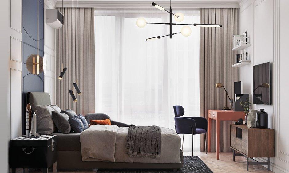 Фотография: Спальня в стиле Современный, Квартира, Проект недели, Москва, 4 и больше, Более 90 метров, Диана Бганова – фото на INMYROOM