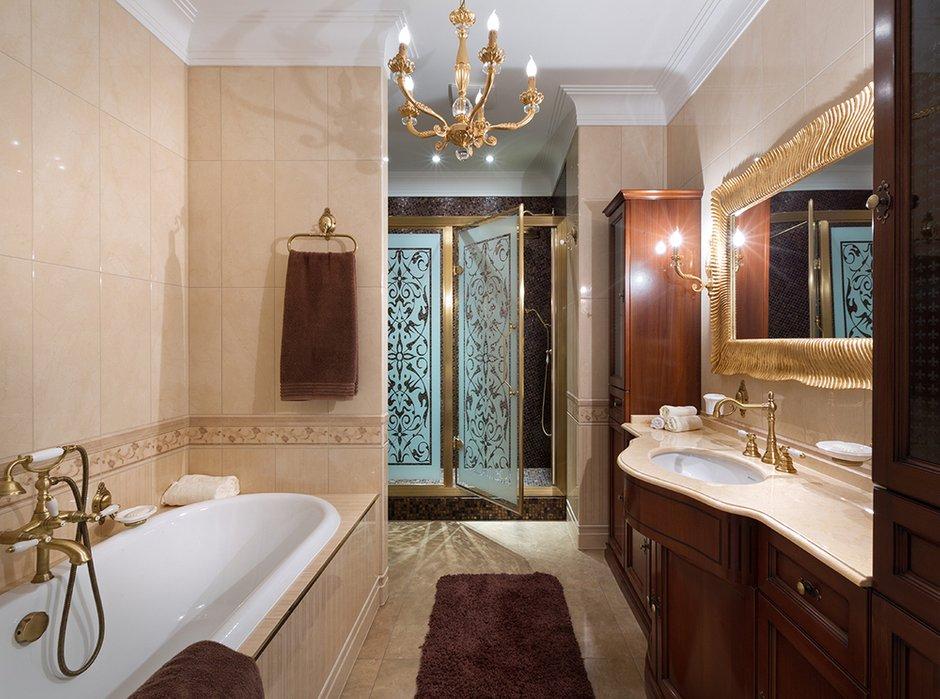 Фотография: Ванная в стиле Классический, Квартира, Дома и квартиры, Пентхаус – фото на INMYROOM