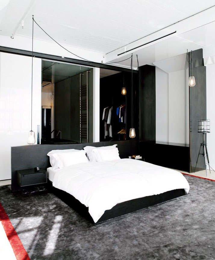 Фотография: Спальня в стиле Лофт, Квартира, Дома и квартиры, Проект недели, Индустриальный – фото на INMYROOM